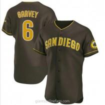 Mens Steve Garvey San Diego Padres #6 Authentic Brown Road A592 Jerseys