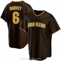 Mens Steve Garvey San Diego Padres #6 Replica Brown Road A592 Jersey