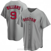 Mens Ted Williams Boston Red Sox #9 Replica Gray Road A592 Jersey