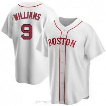 Mens Ted Williams Boston Red Sox #9 Replica White Alternate A592 Jersey