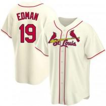 Mens Tommy Edman St Louis Cardinals #19 Cream Alternate A592 Jersey Replica