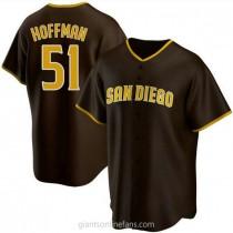 Mens Trevor Hoffman San Diego Padres Replica Brown Road A592 Jersey