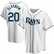 Mens Tyler Glasnow Tampa Bay Rays #20 Replica White Home A592 Jerseys