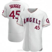 Mens Tyler Skaggs Los Angeles Angels Of Anaheim #45 Authentic White A592 Jerseys