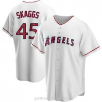 Mens Tyler Skaggs Los Angeles Angels Of Anaheim Replica White Home A592 Jersey