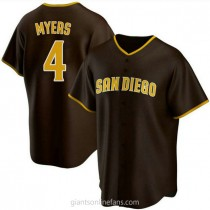 Mens Wil Myers San Diego Padres #4 Replica Brown Road A592 Jersey