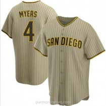 Mens Wil Myers San Diego Padres #4 Replica Brown Sand Alternate A592 Jerseys