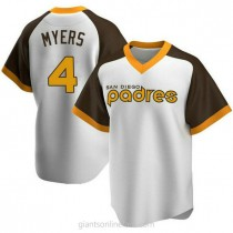 Mens Wil Myers San Diego Padres #4 Replica White Home Cooperstown Collection A592 Jerseys