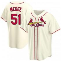 Mens Willie Mcgee St Louis Cardinals #51 Cream Alternate A592 Jerseys Replica