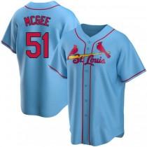 Mens Willie Mcgee St Louis Cardinals #51 Light Blue Alternate A592 Jerseys Replica