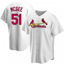 Mens Willie Mcgee St Louis Cardinals #51 White Home A592 Jerseys Replica