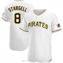 Mens Willie Stargell Pittsburgh Pirates #8 Authentic White Home A592 Jerseys