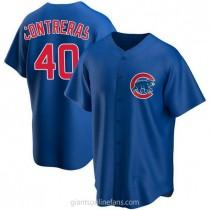 Mens Willson Contreras Chicago Cubs #40 Replica Royal Alternate A592 Jerseys