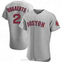 Mens Xander Bogaerts Boston Red Sox #2 Authentic Gray Road A592 Jersey