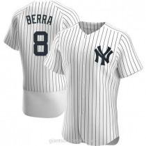 Mens Yogi Berra New York Yankees #8 Authentic White Home A592 Jersey