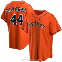 Mens Yordan Alvarez Houston Astros #44 Replica Orange Alternate A592 Jerseys