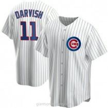 Mens Yu Darvish Chicago Cubs Replica White Home A592 Jersey