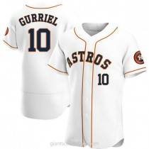Mens Yuli Gurriel Houston Astros #10 Authentic White Home A592 Jersey