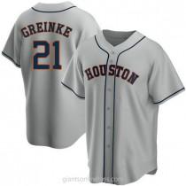 Mens Zack Greinke Houston Astros #21 Replica Gray Road A592 Jersey