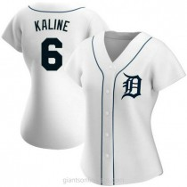Womens Al Kaline Detroit Tigers #6 Authentic White Home A592 Jersey