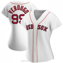 Womens Alex Verdugo Boston Red Sox #99 Authentic White Home A592 Jersey