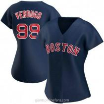 Womens Alex Verdugo Boston Red Sox #99 Replica Navy Alternate A592 Jerseys