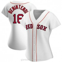 Womens Andrew Benintendi Boston Red Sox #16 Authentic White Home A592 Jersey