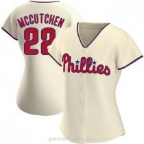 Womens Andrew Mccutchen Philadelphia Phillies #22 Authentic Cream Alternate A592 Jersey