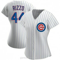 Womens Anthony Rizzo Chicago Cubs #44 Replica White Home A592 Jersey