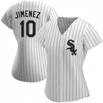 Womens Chicago White Sox #10 Yoan Moncada Authentic White Home Jersey