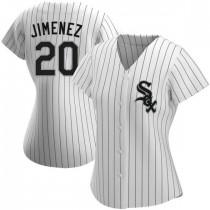 Womens Chicago White Sox #20 Danny Mendick Replica White Home Jersey