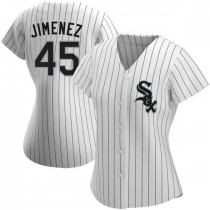 Womens Chicago White Sox #45 Michael Jordan Authentic White Home Jersey
