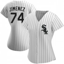 Womens Chicago White Sox #74 Eloy Jimenez Authentic White Home Jersey