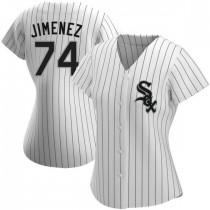 Womens Chicago White Sox #74 Eloy Jimenez Replica White Home Jersey