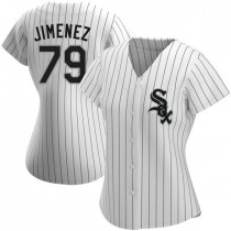 Womens Chicago White Sox #79 Jose Abreu Authentic White Home Jersey