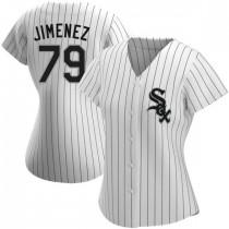 Womens Chicago White Sox #79 Jose Abreu Replica White Home Jersey