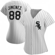 Womens Chicago White Sox #88 Luis Robert Authentic White Home Jersey