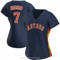 Womens Craig Biggio Houston Astros #7 Authentic Navy Alternate A592 Jersey