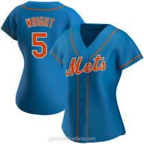 Womens David Wright New York Mets #5 Authentic Royal Alternate A592 Jersey