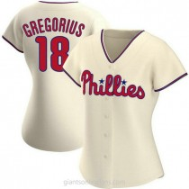 Womens Didi Gregorius Philadelphia Phillies Authentic Cream Alternate A592 Jersey