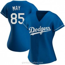 Womens Dustin May Los Angeles Dodgers #85 Authentic Royal Alternate A592 Jersey
