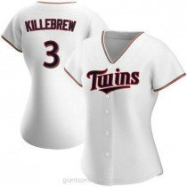 Womens Harmon Killebrew Minnesota Twins Authentic White Home A592 Jersey