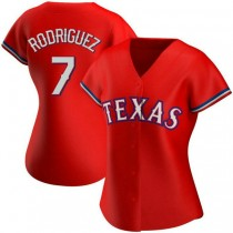 Womens Ivan Rodriguez Texas Rangers #7 Authentic Red Alternate A592 Jersey