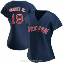 Womens Jackie Bradley Jr Boston Red Sox #19 Replica Navy Alternate A592 Jerseys