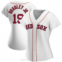 Womens Jackie Bradley Jr Boston Red Sox #19 Replica White Home A592 Jersey