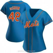 Womens Jacob Degrom New York Mets #48 Replica Royal Alternate A592 Jersey