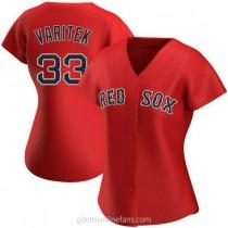 Womens Jason Varitek Boston Red Sox #33 Authentic Red Alternate A592 Jerseys