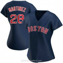 Womens Jd Martinez Boston Red Sox #28 Authentic Navy Alternate A592 Jersey