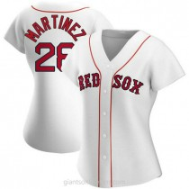 Womens Jd Martinez Boston Red Sox #28 Authentic White Home A592 Jersey