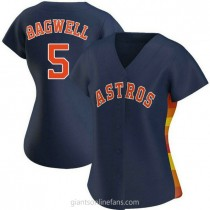 Womens Jeff Bagwell Houston Astros #5 Authentic Navy Alternate A592 Jersey